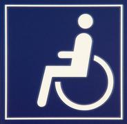 Wheelchair sign Stock Illustration