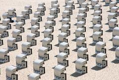 Beach tuolit Itämerellä Kuvituskuvat