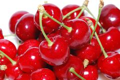 Many cherries large view Stock Photos