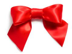 Stock Photo of red satin bow