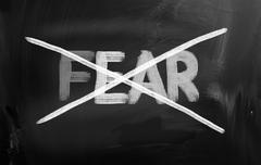 no fear concept - stock illustration