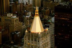nyc. new york city. skyline skyscrapers. overlooking - stock photo