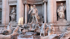 Trevi Fountain, Rome Stock Footage