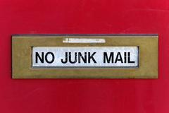 No junk mail Stock Photos