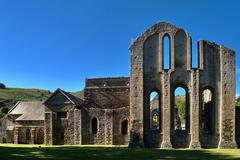 Valle Crucis Abbey at Llantysilio - stock photo
