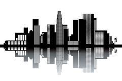Los Angeles skyline - stock illustration