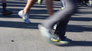 Stock Video Footage of Runners' Feet in Race