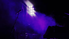 Microphone in stage Stock Footage