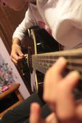 Guitar strings Stock Photos