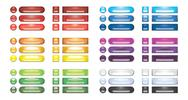 Collection of rainbow blank web buttons Stock Illustration