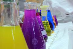 Chemistry and colors Stock Photos
