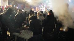 Strike in Ukraine (camp of strikers, tea!) Stock Footage