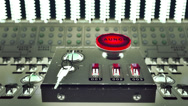 Stock Video Footage of Launch button on a control console