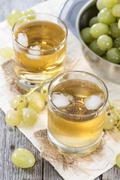 Chilled grape juice Stock Photos