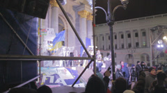 Strike in Ukraine for Ukraine's accession to the EU Stock Footage