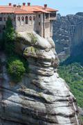 meteora rocky monasteries - stock photo