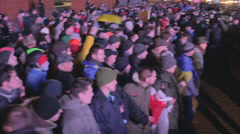 Strike in Ukraine (police against the crowd) Stock Footage