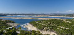 Lake travis panorama Stock Photos