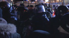 Strike in Ukraine (Police ousted strikers) Stock Footage