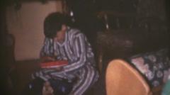Vintage  movies 8mm, Christmas radio Stock Footage
