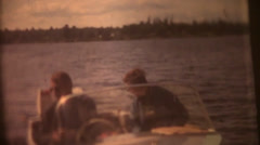 Vintage  movies 8mm, fishing boat Stock Footage