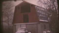 Vintage  movies 8mm, snow strom , Stock Footage