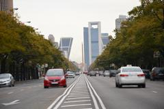 Traffic and buildings - stock photo
