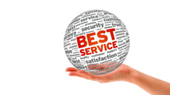 Best Service Word Sphere Stock Footage