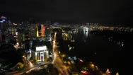 Stock Video Footage of Saigon River front at night timelapse