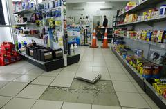 6.5 earthquake damage reaches the far north of nz Stock Photos