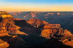 beautiful colorful sunrise at grand canyon national park - stock photo