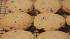 Chocolate chip cookies Stock Footage