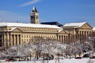 Stock Photo of commerce department old post office after the snow constitution avenue washin