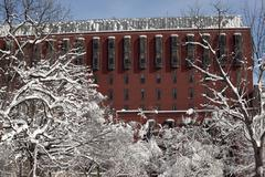 Stock Photo of court of appeals federal circuit snowy trees lafayette park washington dc