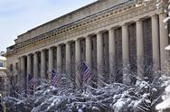 Stock Photo of commerce department after the snow pennsylvania avenue washington dc