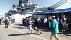 Battleship Iowa Museum Stock Footage