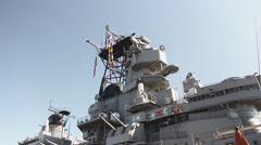 USS Iowa Stock Footage