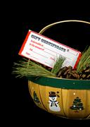 Christmas gift certificate Stock Photos