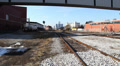 South Detroit Windsor Train Tracks Footage