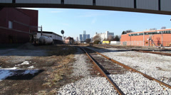 South Detroit Windsor Train Tracks - stock footage