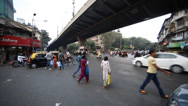 Stock Video Footage of Road Traffic in Mumbai