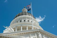 sacramento capitol building in california - stock photo