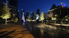 Christmas star in the city 4 Stock Footage