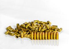 group of golden grn shelling - stock photo