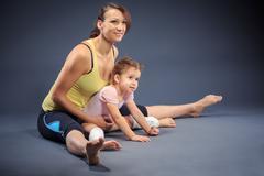 fitness family - stock photo