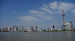 Shanghai bund & Oriental Pearl Tower,Lujiazui economic Center. Stock Footage