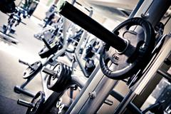 gym room - stock photo