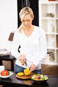 woman with paprika - stock photo