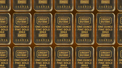 Gold Bars Motion Background - stock footage