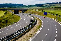 autobahn - stock photo